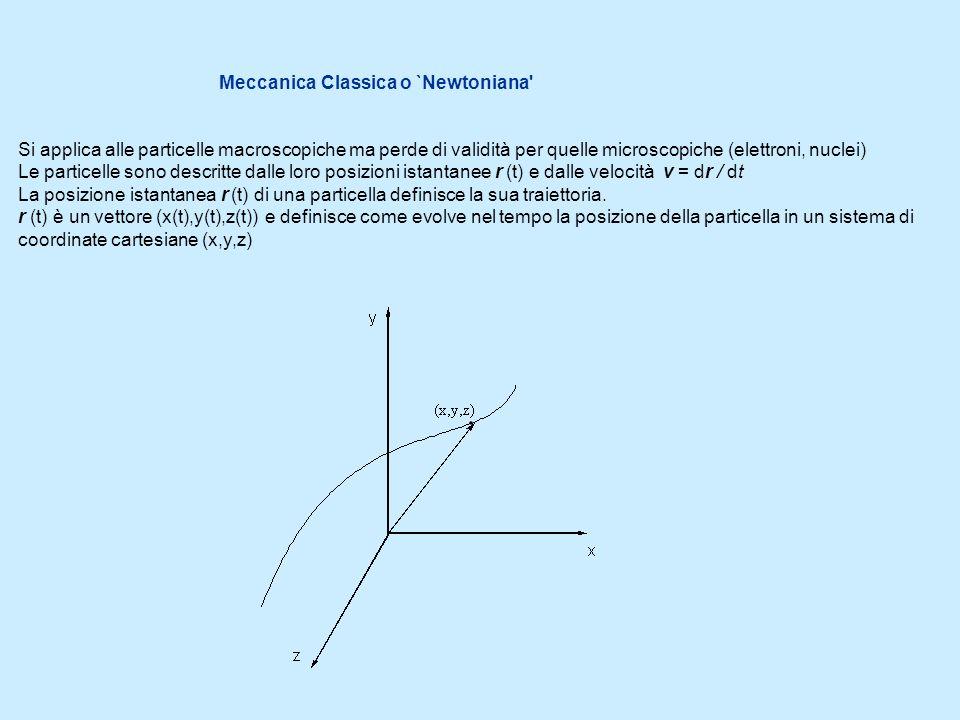 Meccanica Classica o `Newtoniana