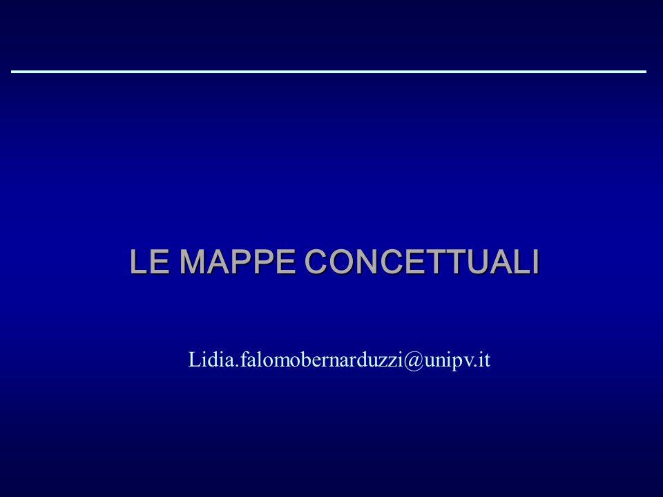 Le mappe concettuali Lidia.falomobernarduzzi@unipv.it