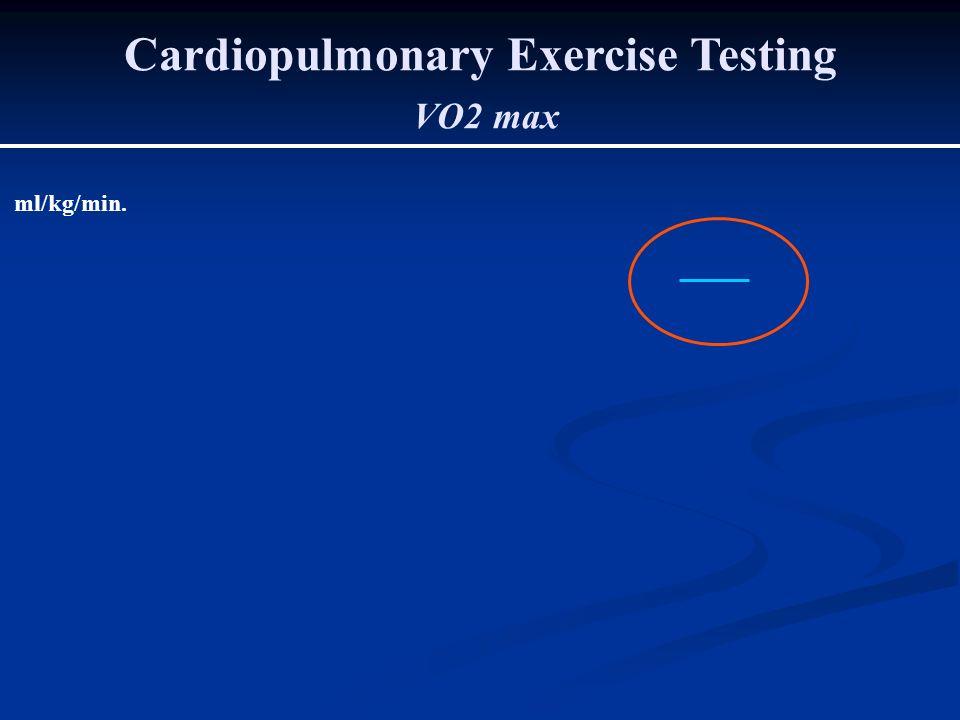 Cardiopulmonary Exercise Testing VO2 max