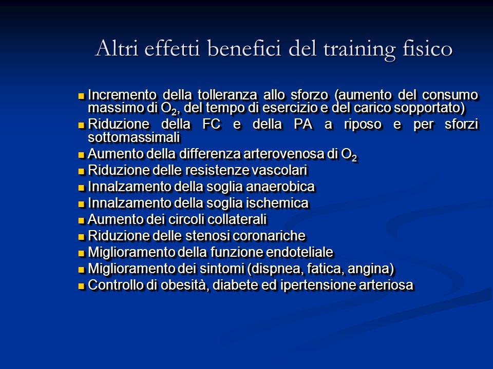 Altri effetti benefici del training fisico