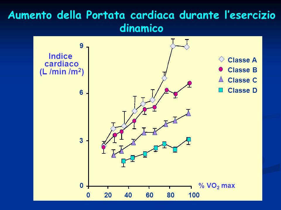 Aumento della Portata cardiaca durante l'esercizio dinamico