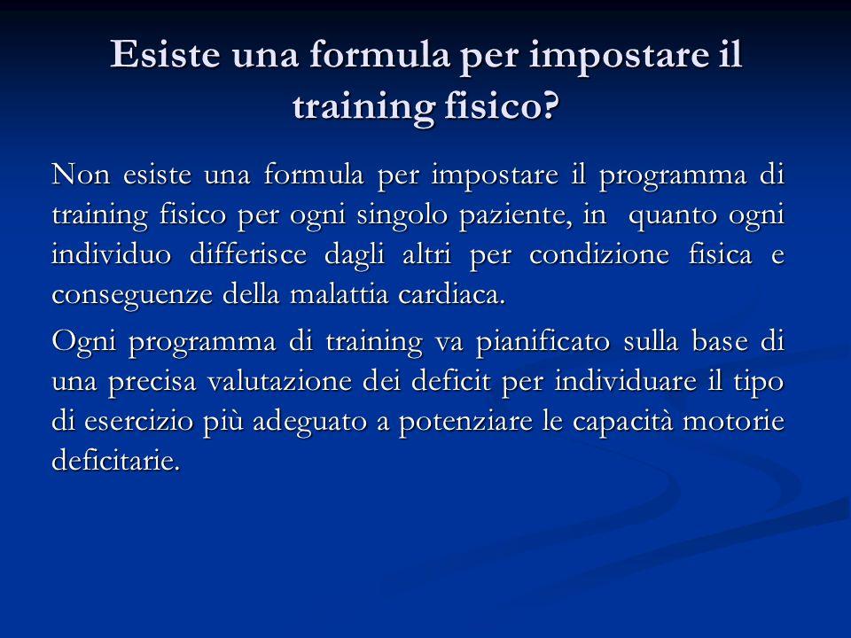 Esiste una formula per impostare il training fisico