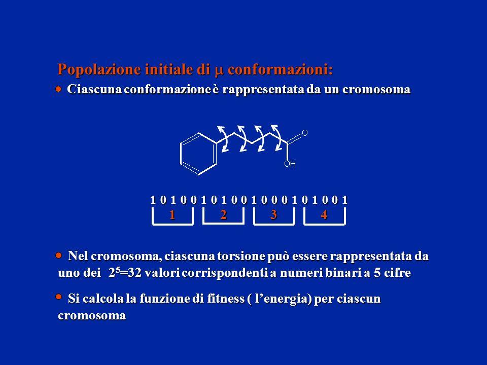 Popolazione initiale di m conformazioni: