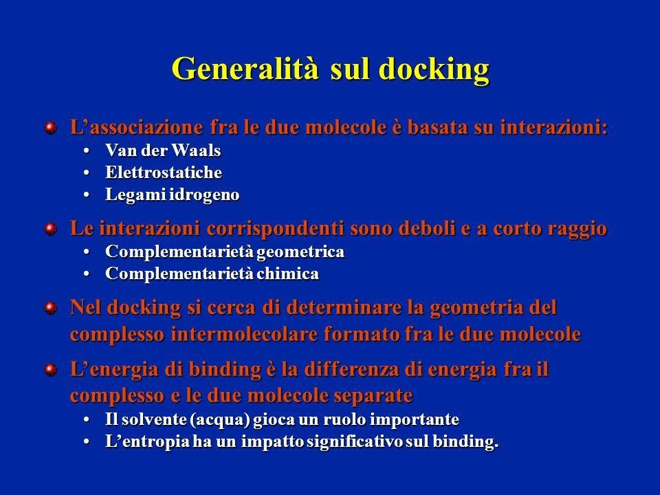 Generalità sul docking