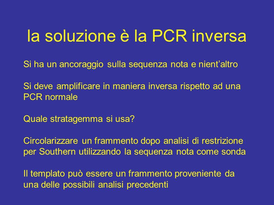 la soluzione è la PCR inversa