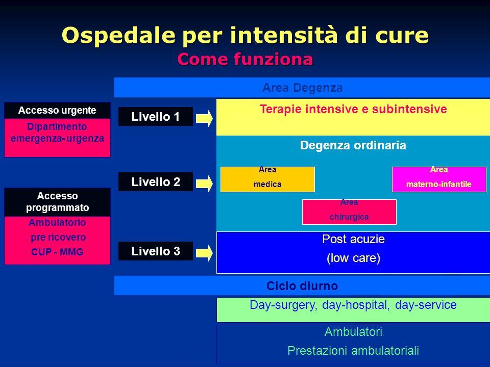 Ospedale per intensità di cure Come funziona