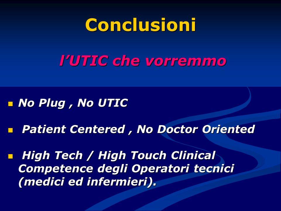 Conclusioni l'UTIC che vorremmo No Plug , No UTIC