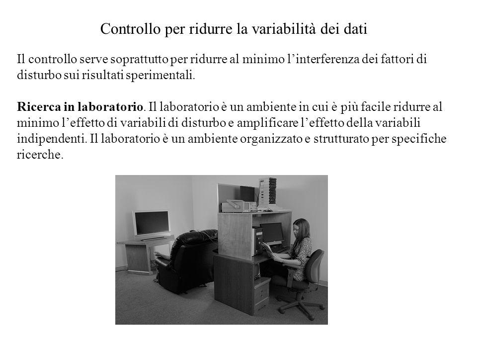Controllo per ridurre la variabilità dei dati
