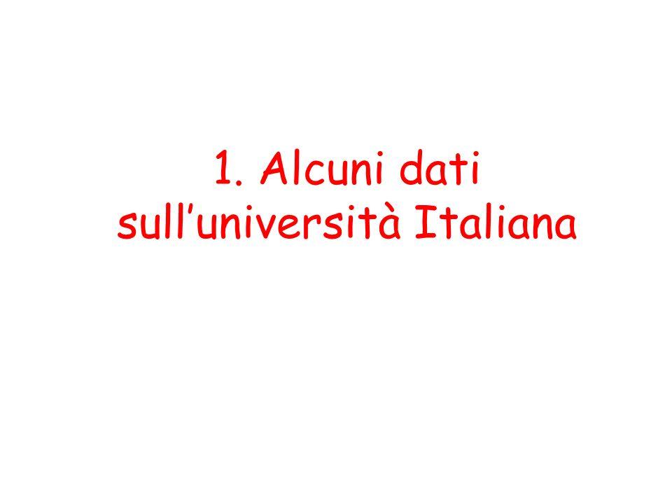 1. Alcuni dati sull'università Italiana