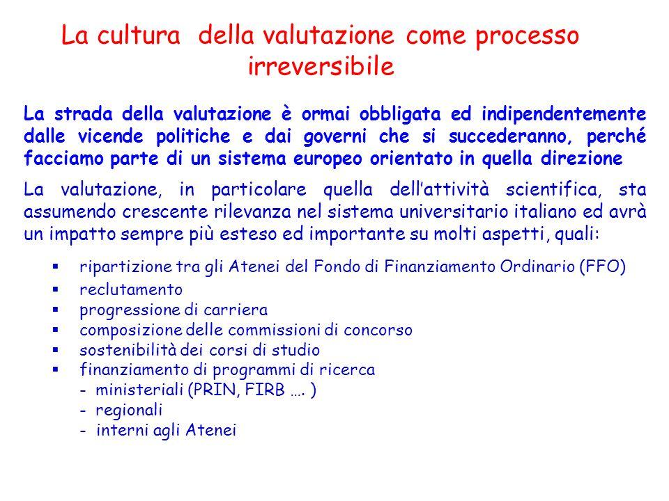 La cultura della valutazione come processo irreversibile