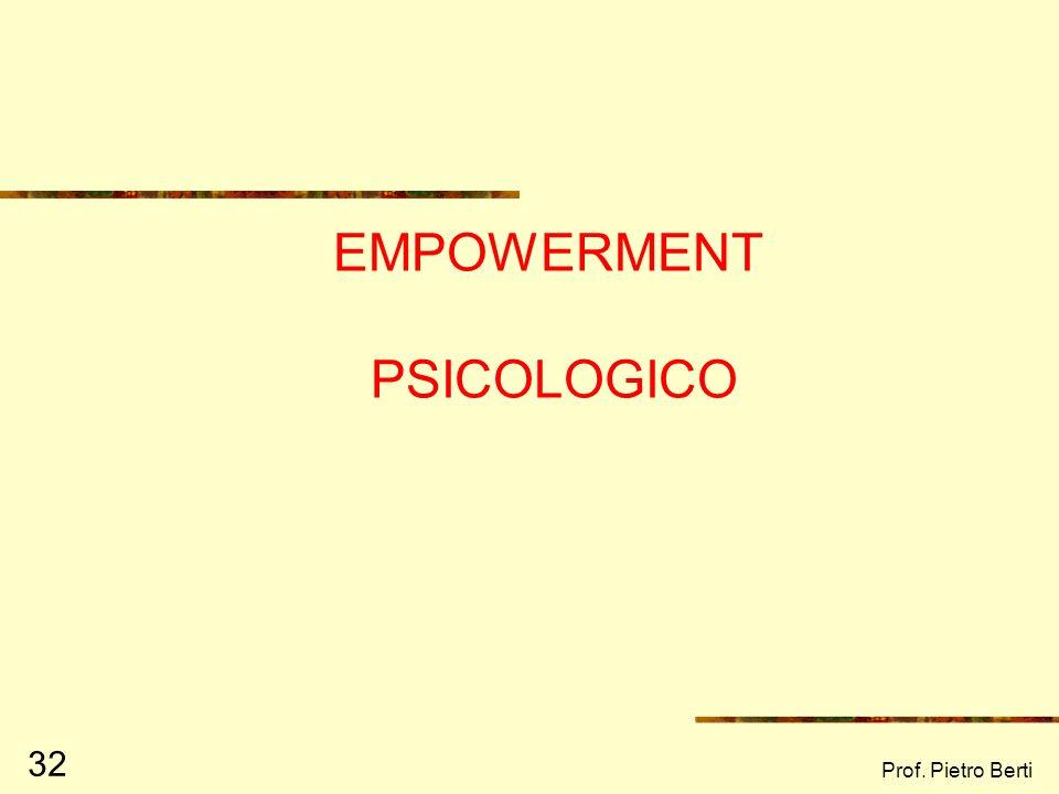 EMPOWERMENT PSICOLOGICO