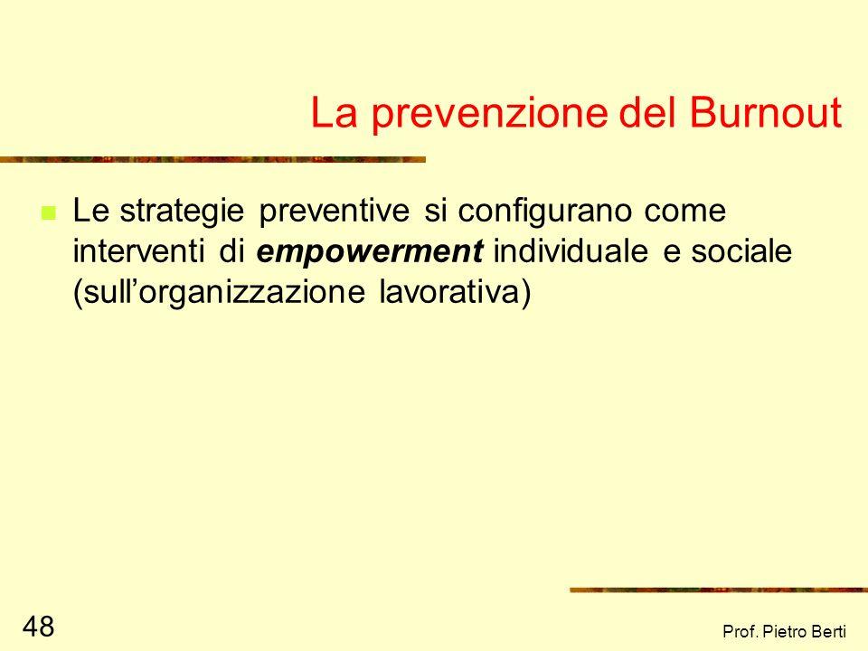 La prevenzione del Burnout