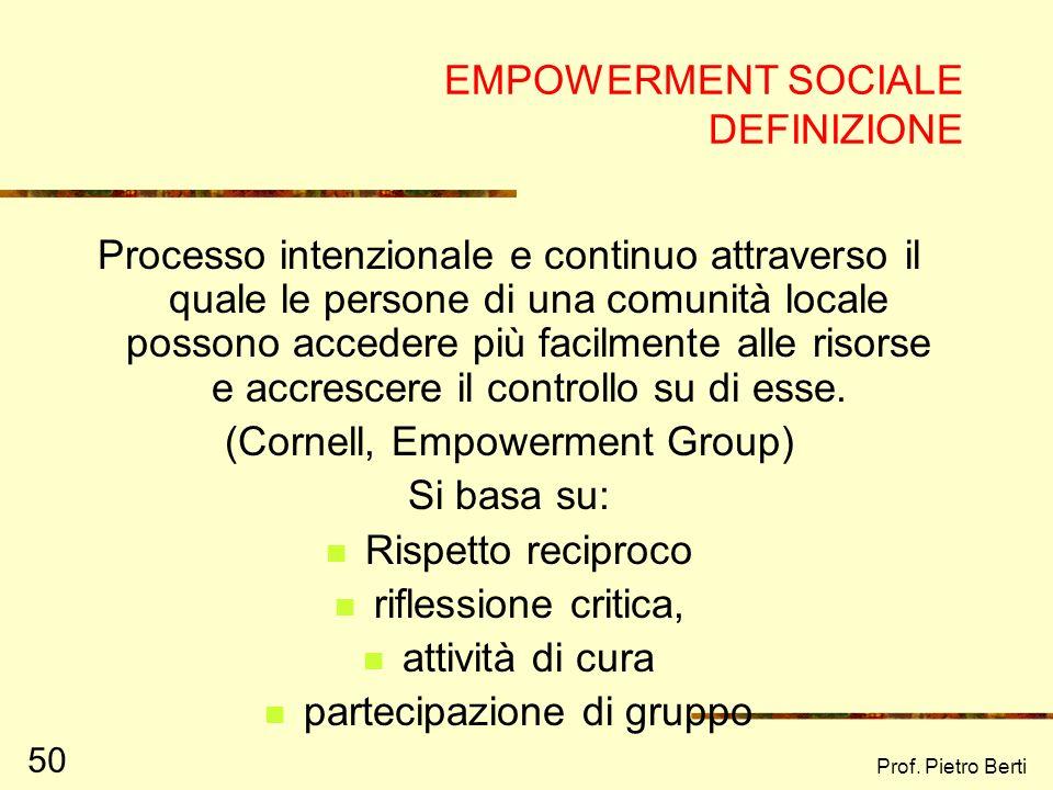 EMPOWERMENT SOCIALE DEFINIZIONE