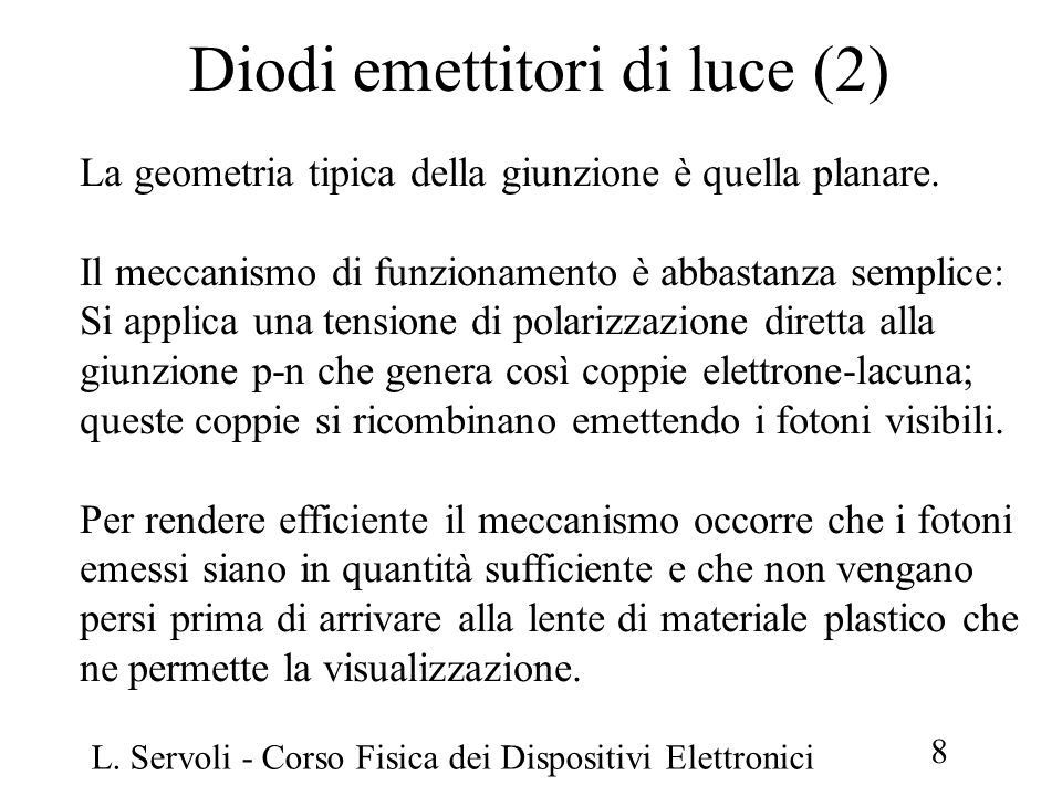 Diodi emettitori di luce (2)