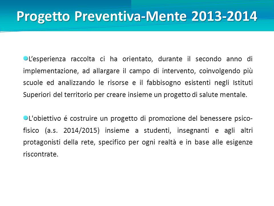 Progetto Preventiva-Mente 2013-2014