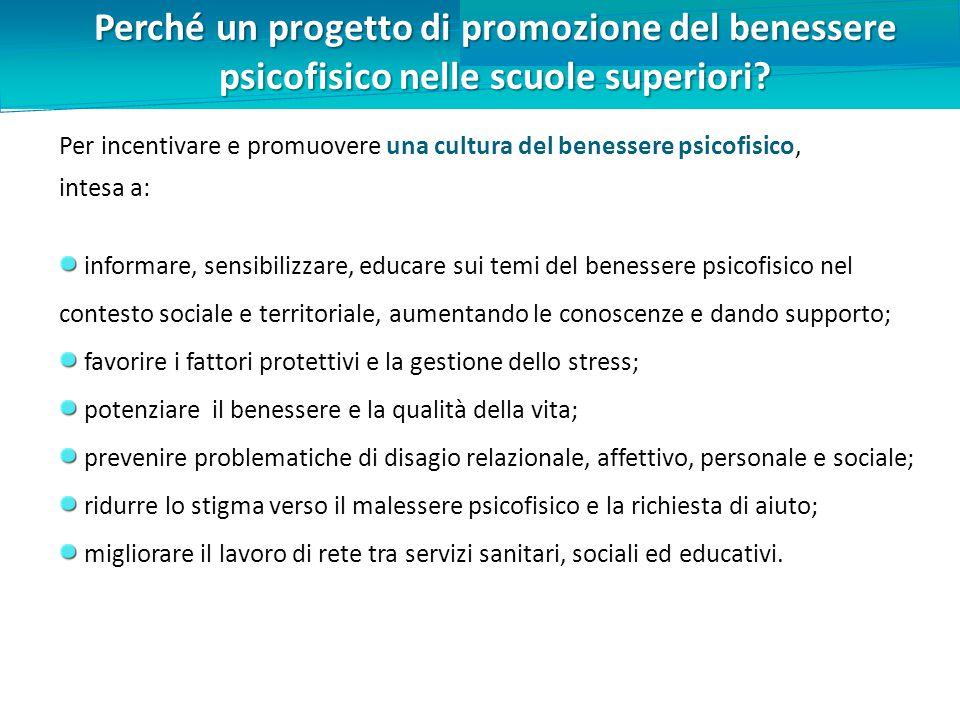 Perché un progetto di promozione del benessere psicofisico nelle scuole superiori