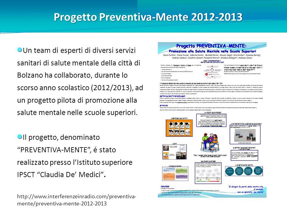 Progetto Preventiva-Mente 2012-2013