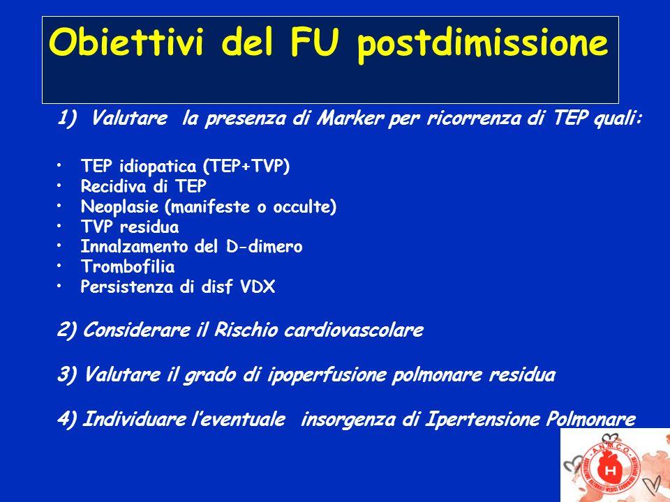 Obiettivi del FU postdimissione