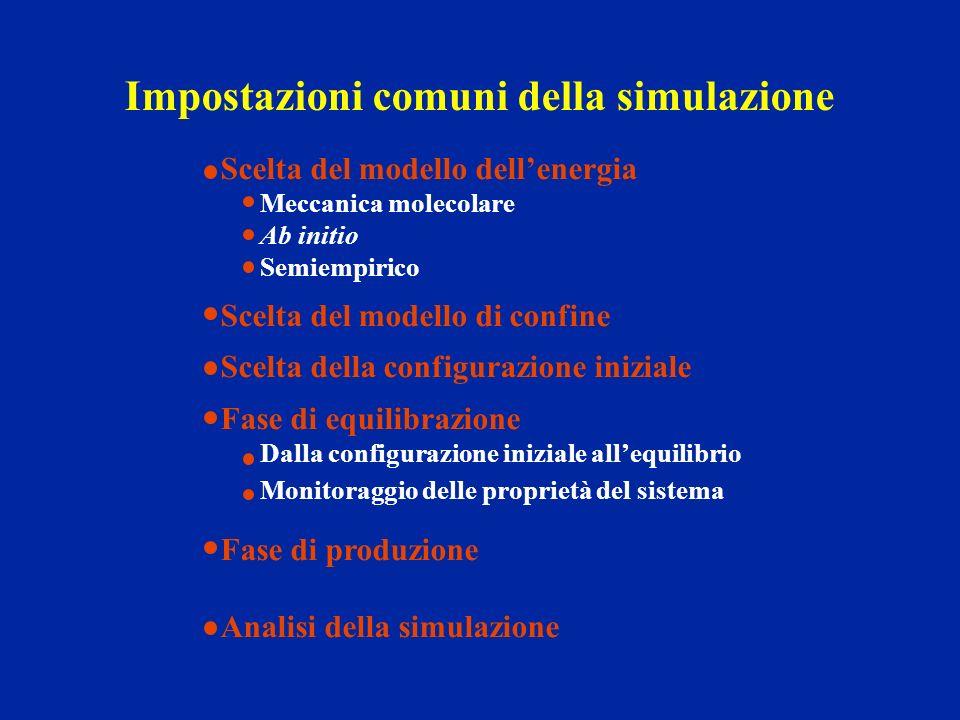 Impostazioni comuni della simulazione
