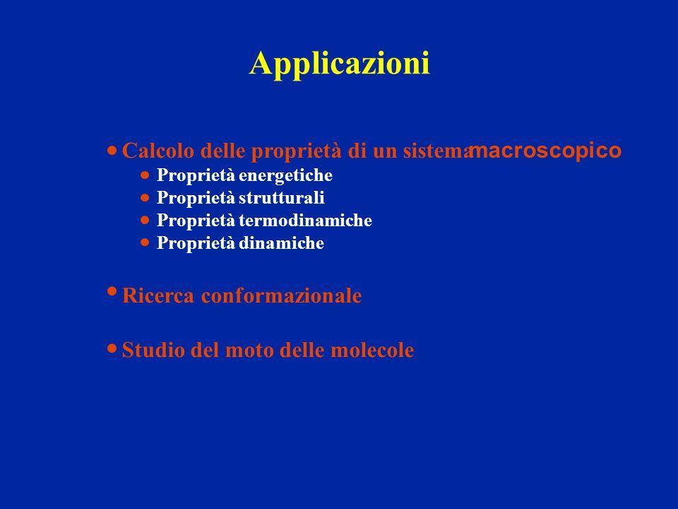 Applicazioni Calcolo delle proprietà di un sistema