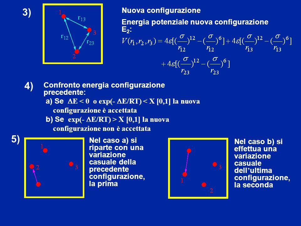 3) 4) 5) Nuova configurazione