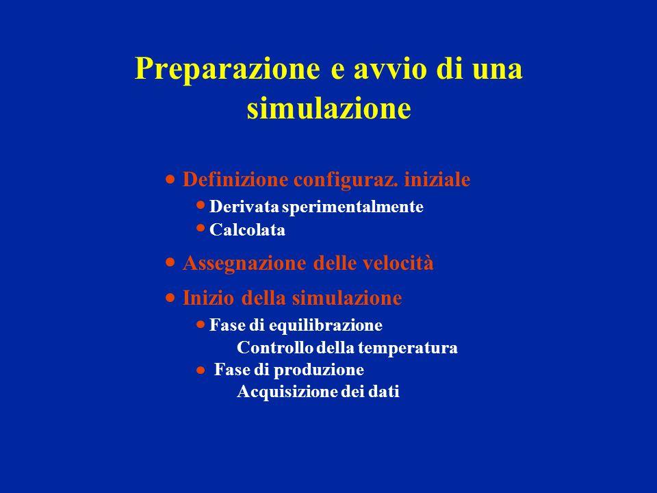 Preparazione e avvio di una simulazione