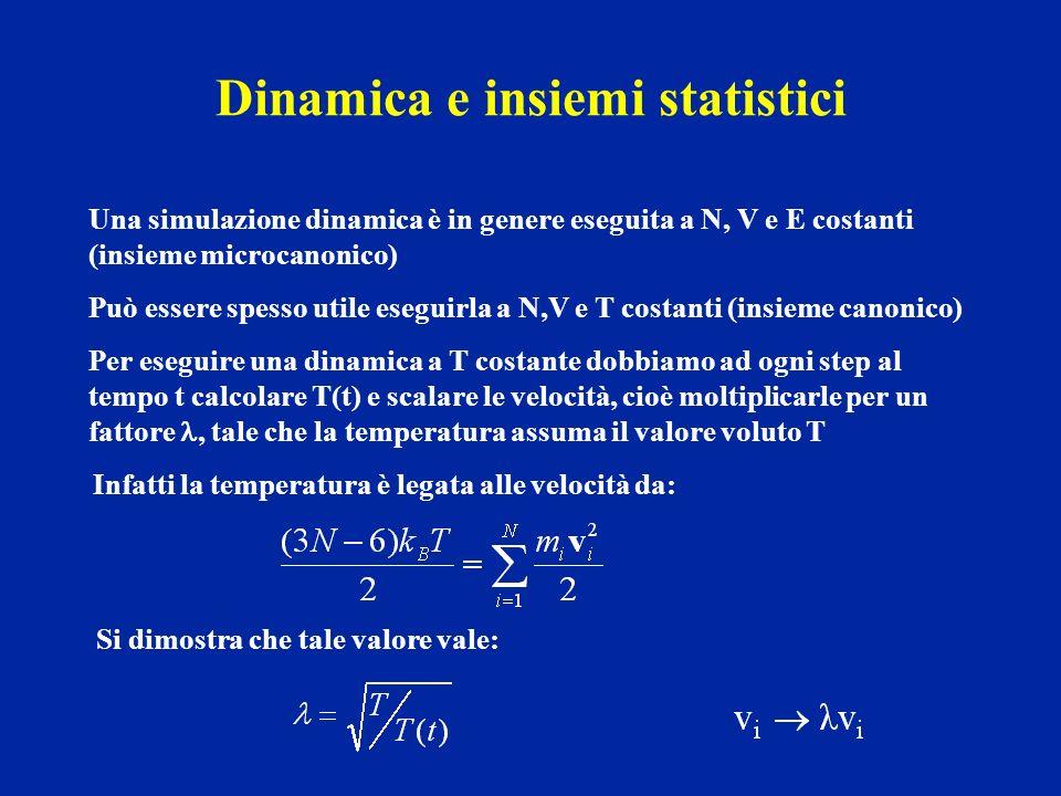 Dinamica e insiemi statistici