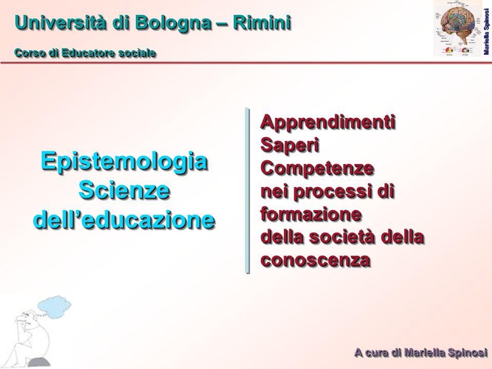 Epistemologia Scienze dell'educazione