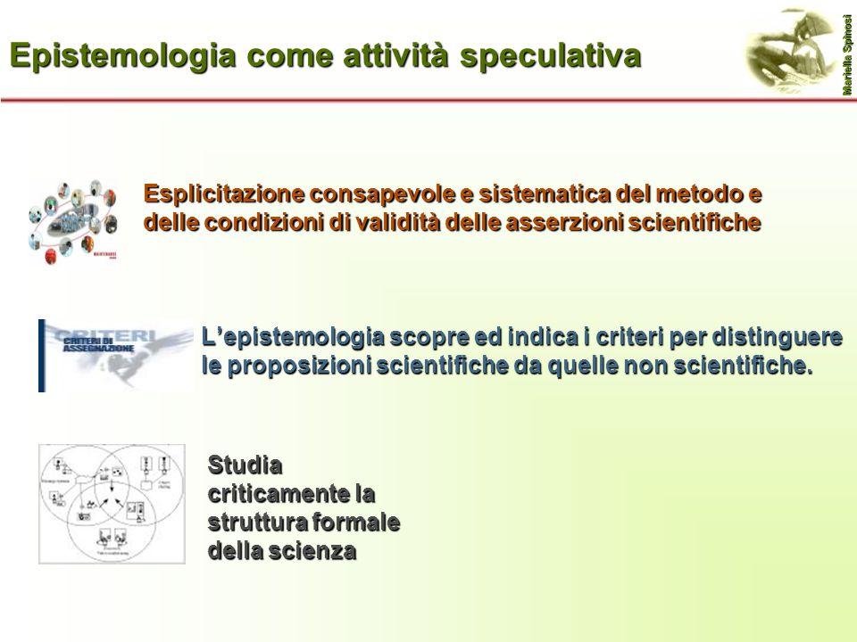 Epistemologia come attività speculativa