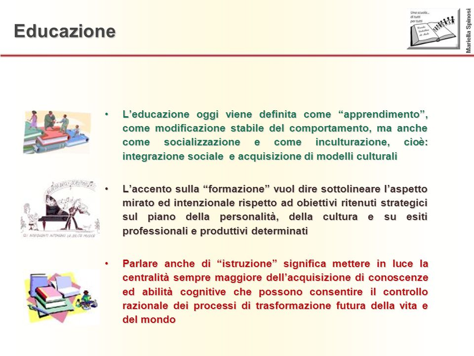 Educazione Mariella Spinosi.