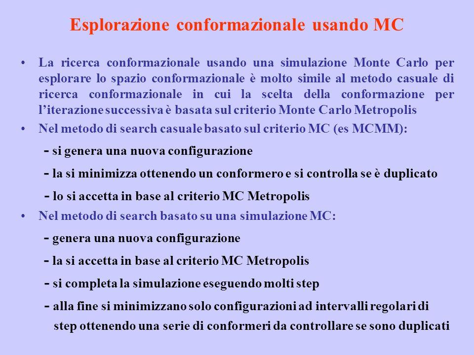 Esplorazione conformazionale usando MC