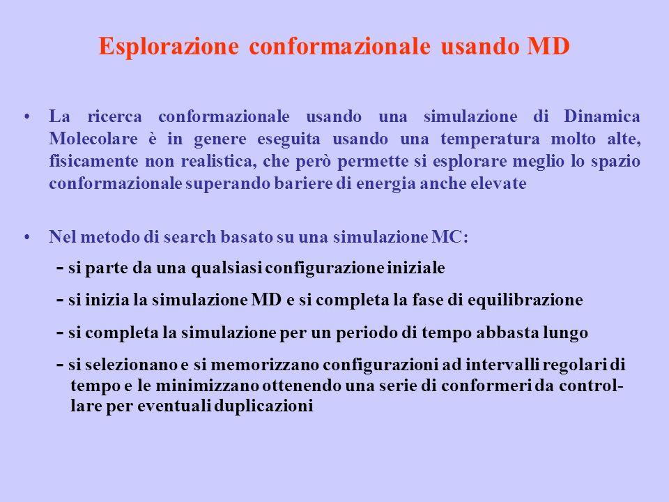 Esplorazione conformazionale usando MD