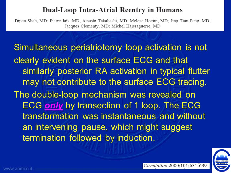 Simultaneous periatriotomy loop activation is not