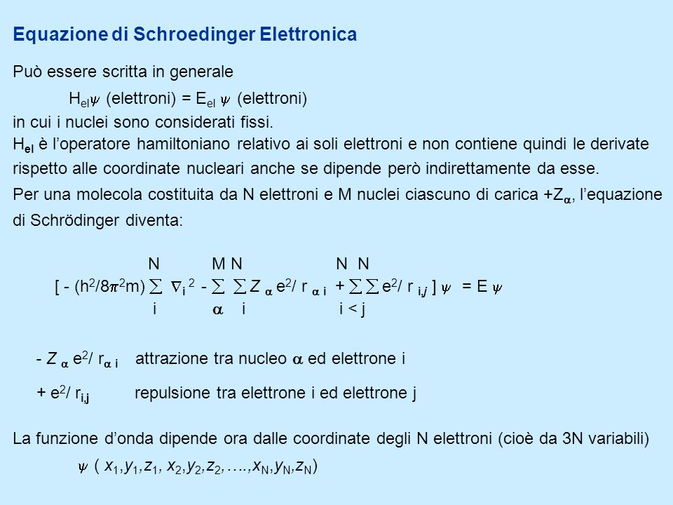 Equazione di Schroedinger Elettronica