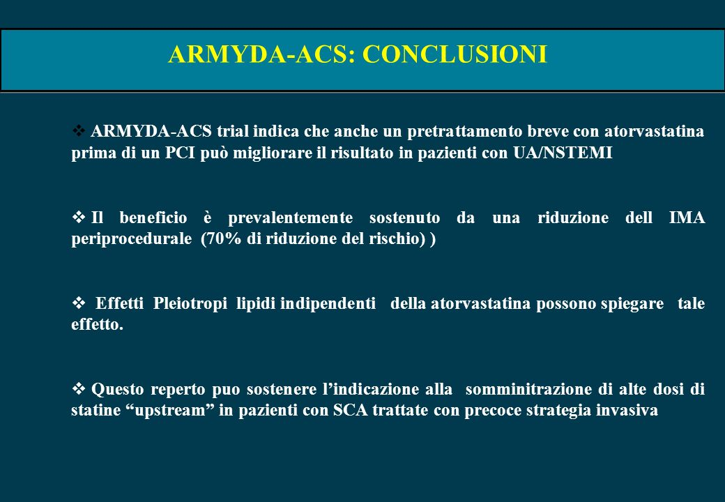 ARMYDA-ACS: CONCLUSIONI