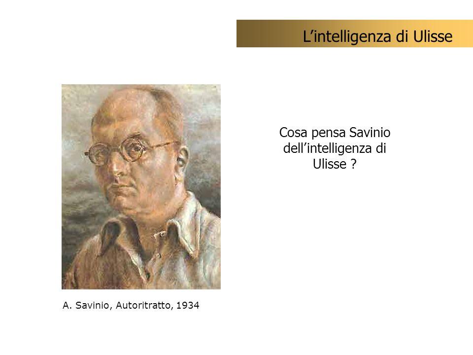 Cosa pensa Savinio dell'intelligenza di Ulisse