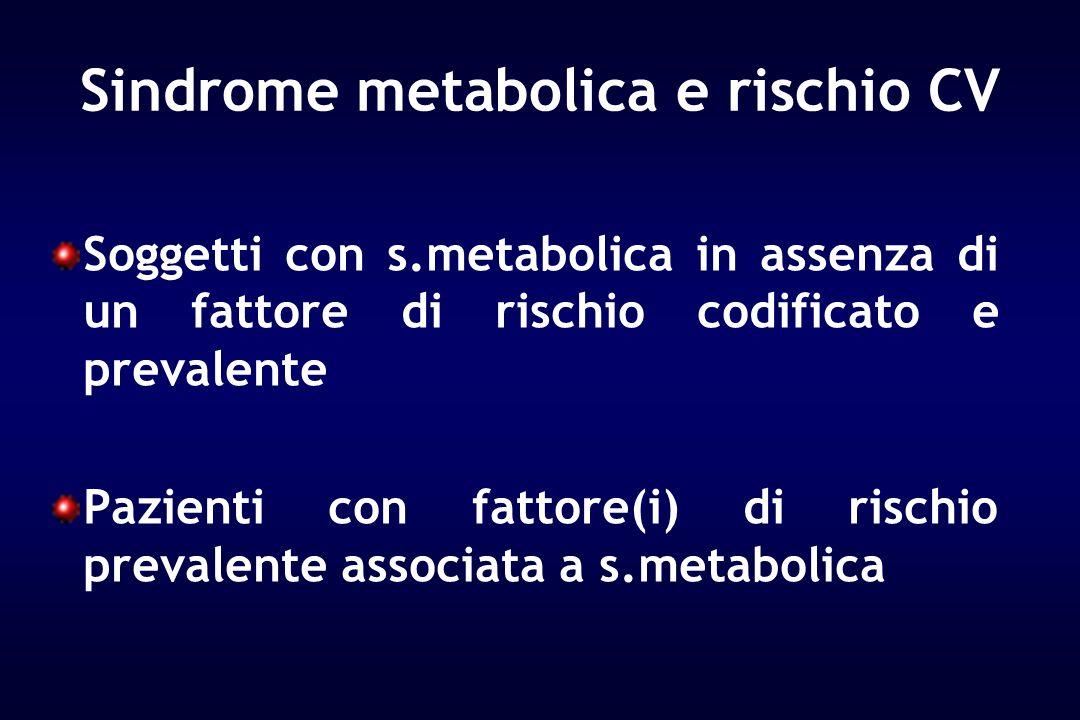 Sindrome metabolica e rischio CV