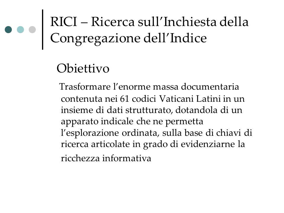 RICI – Ricerca sull'Inchiesta della Congregazione dell'Indice