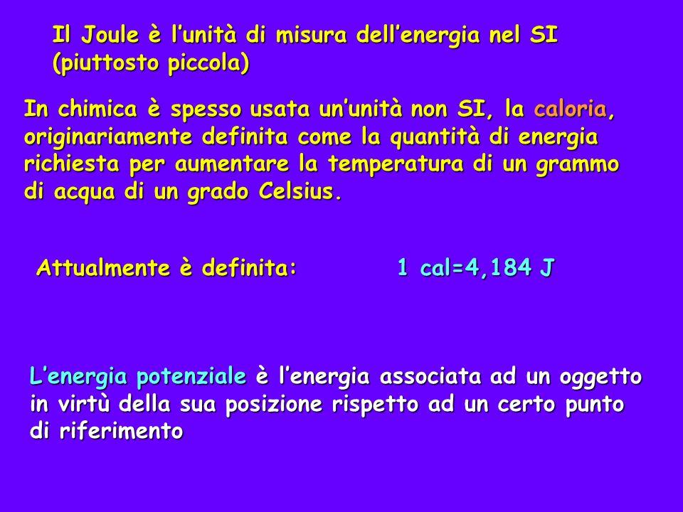 Il Joule è l'unità di misura dell'energia nel SI (piuttosto piccola)