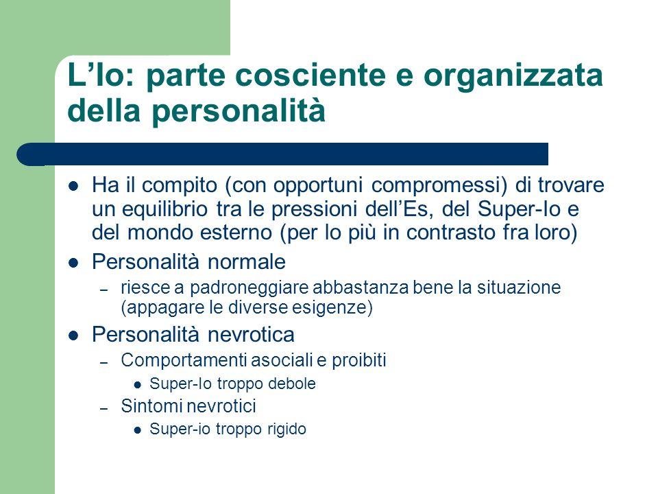 L'Io: parte cosciente e organizzata della personalità