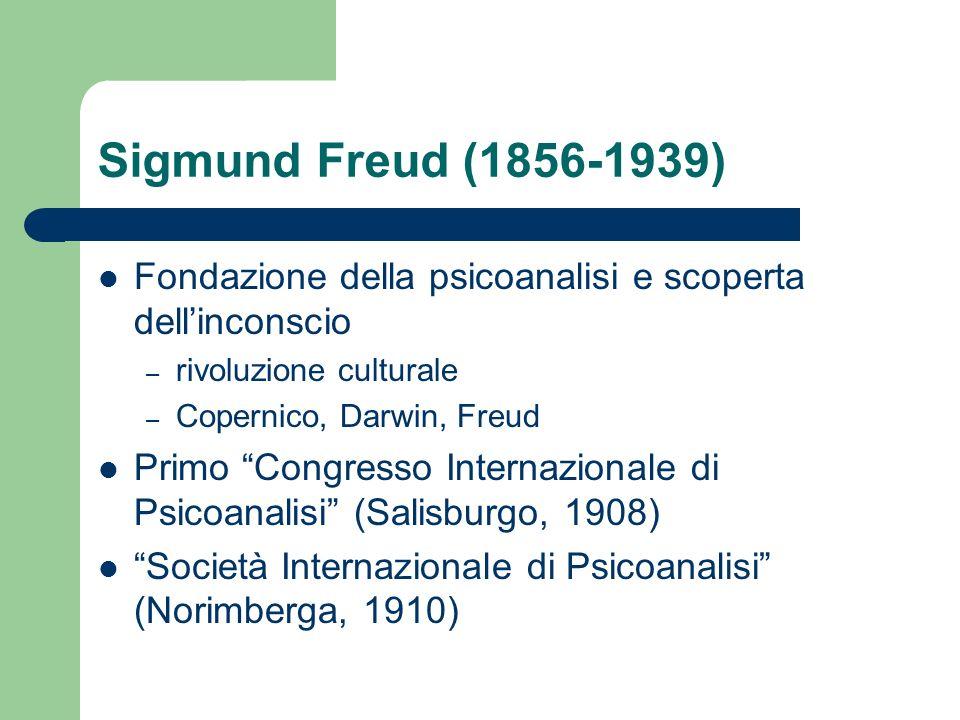 Sigmund Freud (1856-1939) Fondazione della psicoanalisi e scoperta dell'inconscio. rivoluzione culturale.