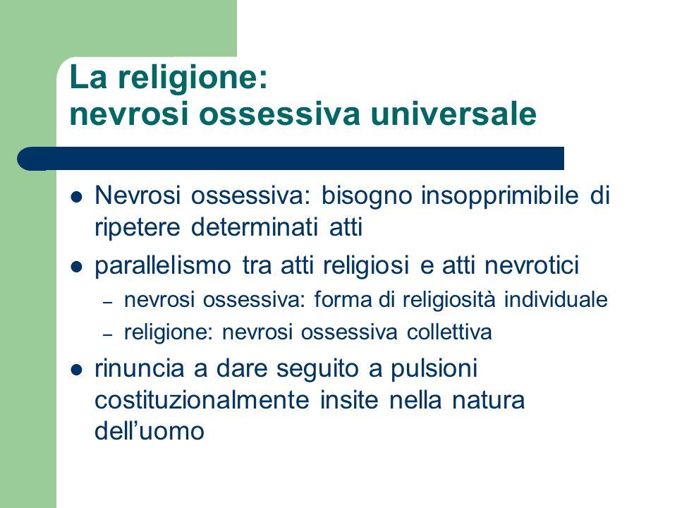 La religione: nevrosi ossessiva universale
