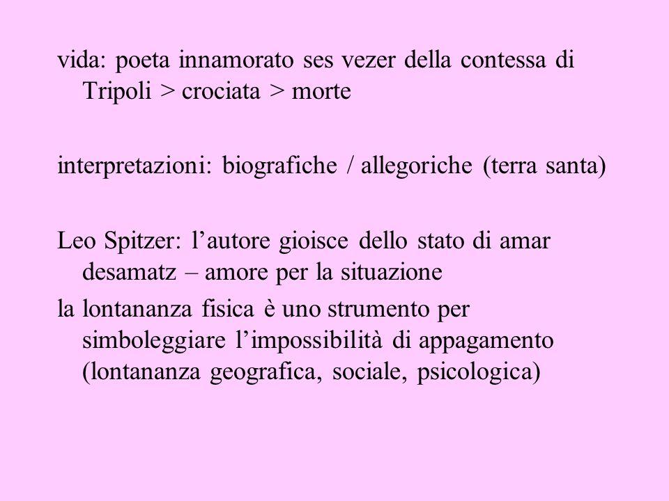 vida: poeta innamorato ses vezer della contessa di Tripoli > crociata > morte