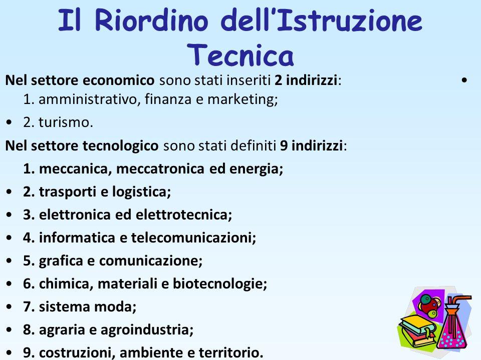 Il Riordino dell'Istruzione Tecnica