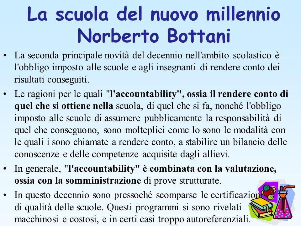 La scuola del nuovo millennio Norberto Bottani