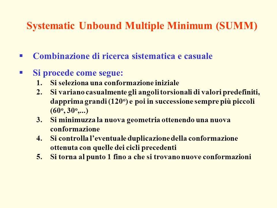 Systematic Unbound Multiple Minimum (SUMM)