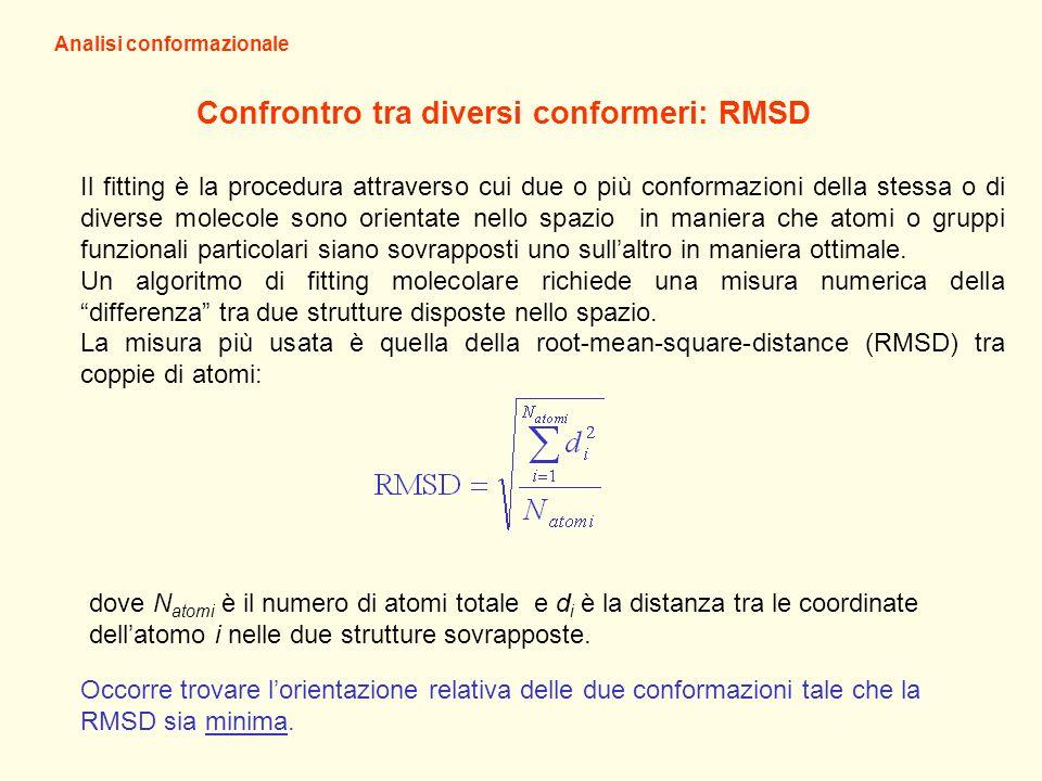 Confrontro tra diversi conformeri: RMSD
