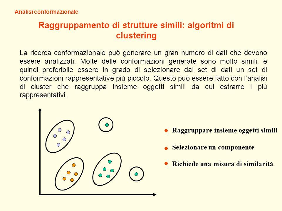 Raggruppamento di strutture simili: algoritmi di clustering