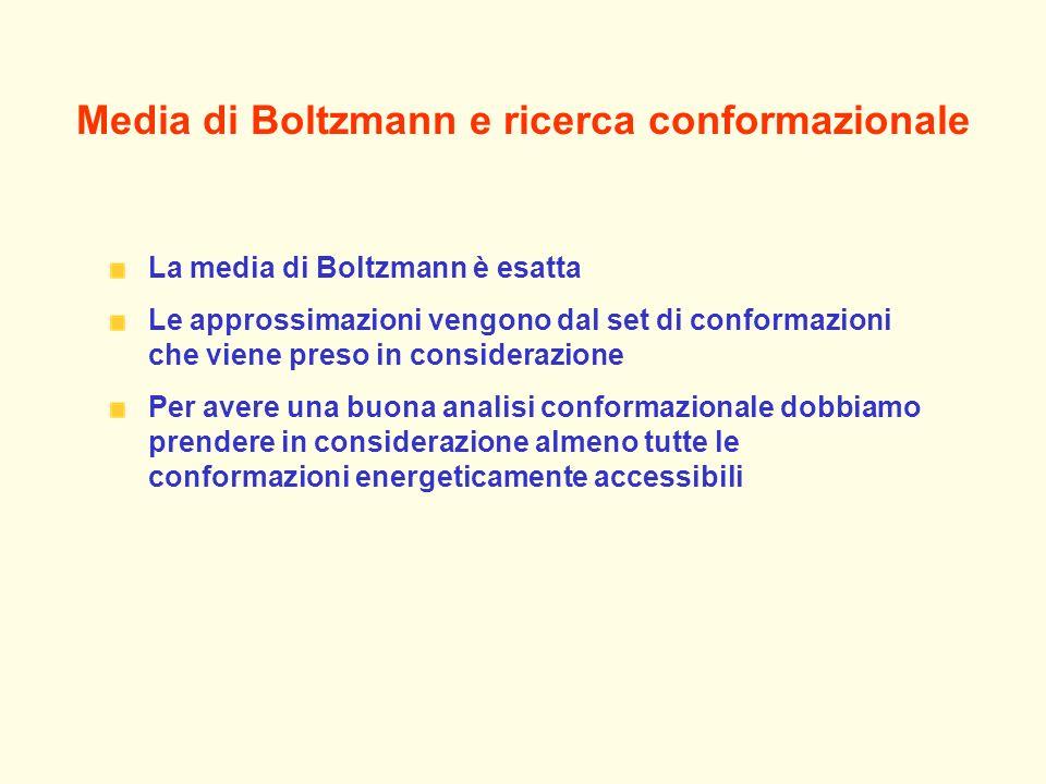 Media di Boltzmann e ricerca conformazionale