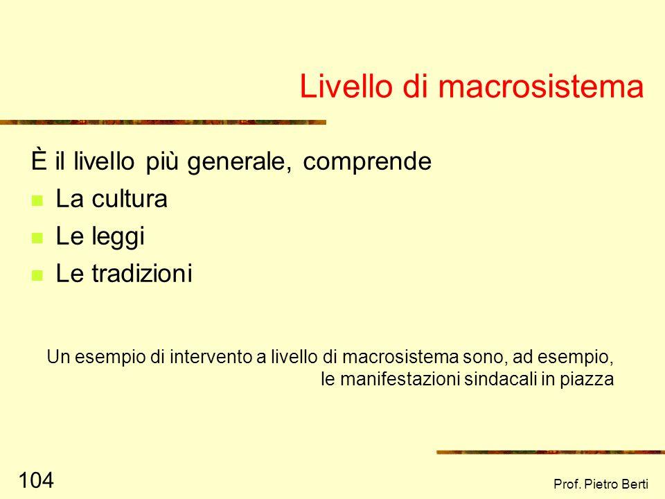 Livello di macrosistema